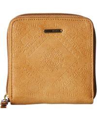 Roxy - Carry A Heart Wallet (curry) Wallet Handbags - Lyst