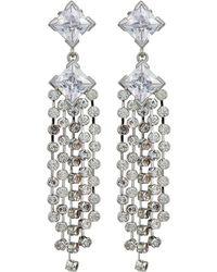 Lauren by Ralph Lauren - Linear Multi Strand Clip Earrings - Lyst