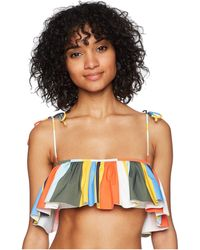 Tory Burch - Balloon Stripe Flounce Top - Lyst