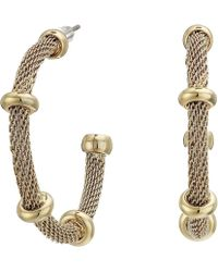 Lauren by Ralph Lauren - 28 Millimeter Mesh Hoop Earrings (gold 2) Earring - Lyst