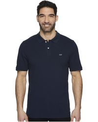 Vineyard Vines - Stretch Pique Solid Polo Contrast Whale (jet Black) Men's Clothing - Lyst