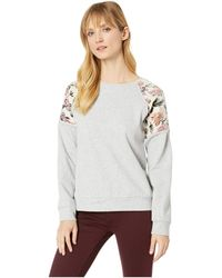 Two By Vince Camuto - Long Sleeve French Terry Drop Shoulder Color Block Sweatshirt (grey Heather) Women's Sweatshirt - Lyst