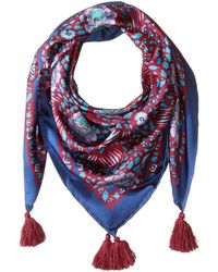 Rebecca Minkoff - Persian Rose Silk Square (red) Scarves - Lyst