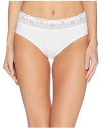 Hanky Panky - Cotton With Lace French Briefs (black) Women's Underwear - Lyst