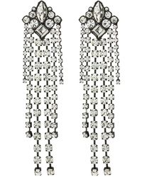 Rebecca Minkoff - Gemma Fringe Earrings (crystal) Earring - Lyst