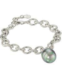 Majorica - Modern Metal Gold Link Bracelet (grey) Bracelet - Lyst