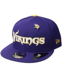 11527adb0 KTZ - Minnesota Vikings Pinned Snap (purple) Baseball Caps - Lyst