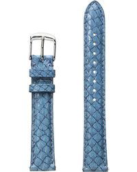 Michele - 16mm Seamist Fish Skin Strap Blue (blue) Watches - Lyst