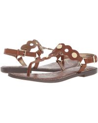 Sam Edelman - Gilly (black Vaquero Saddle Leather) Women's Sandals - Lyst