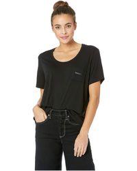For Better Not Worse - Wine Understands Pocket T-shirt (black) Women's T Shirt - Lyst