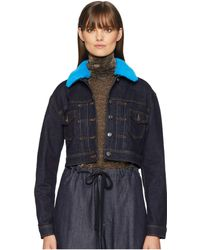 Versus - Blouson Donna Denim/jeans Jacket (blue Scuro) Women's Coat - Lyst