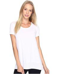 Mod-o-doc - Supreme Jersey Short Sleeve Hi-low Hem Tee (white) Women's T Shirt - Lyst