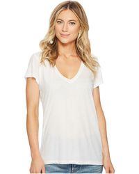 Alternative Apparel - Melange Burnout Jersey Slinky V-neck (white) Women's Clothing - Lyst