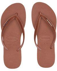 Havaianas - Slim Velvet Flip-flops (black) Women's Sandals - Lyst