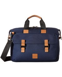 Knomo - Fulham Tournay Topload Brief (navy) Briefcase Bags - Lyst
