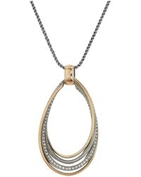 Brighton - Neptune's Rings Twirl Convertible Necklace - Lyst