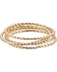 Shashi - Pebble Set Rings (gold) Ring - Lyst