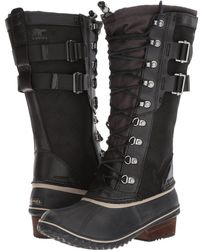 Sorel - Conquest Carly Ii (black/silver Sage) Women's Waterproof Boots - Lyst