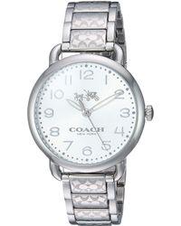 COACH - Delancey 36mm Etched Bracelet Watch - Lyst