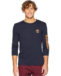 Timberland - Long Sleeve Logo Tee (wheat/black) Men's Long Sleeve Pullover - Lyst