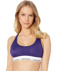 3837448b36 Calvin Klein - Modern Perforated Unlined Bralette (shilo Blue) Women s Bra  - Lyst