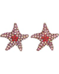 Betsey Johnson - Pink Starfish Stud Earrings (coral) Earring - Lyst