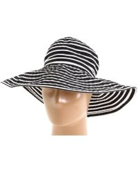 San Diego Hat Company - Ribbon Braid Hat Large Brim Stripe - Lyst