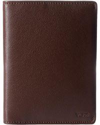 Tumi - Nassau Passport Cover (brown Textured) Wallet - Lyst