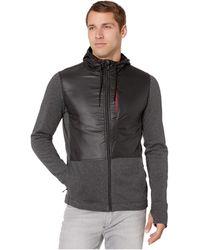 Smartwool Merino Sport Fleece Full Zip Hybrid Hoodie - Gray