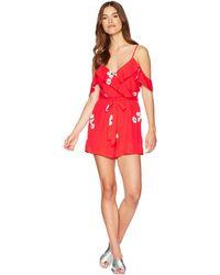 Bardot - Taisa Wrap Laysuit (poppy) Women's Jumpsuit & Rompers One Piece - Lyst