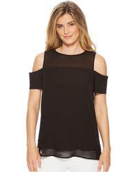 Calvin Klein - Short Sleeve Cold Shoulder Blouse (soft White) Women's Clothing - Lyst