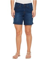 NYDJ - Petite Jenna Shorts W/ Mini Side Slit In Cooper In Cooper - Lyst