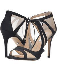 Nina Cherie Matte Fabric Ankle-Tie Mesh Dress Sandals i6R6lR30CQ