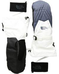The North Face - Montana Gore-tex Mitt (tnf White/grisalle Grey Heather) Gore-tex Gloves - Lyst