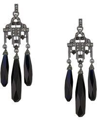 Lauren by Ralph Lauren - Stone Chandelier Earrings (jet) Earring - Lyst