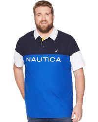 0f7a4daa Nautica - Big Tall Blocked Polo Shirt (bright Cobalt) Men's Short Sleeve  Knit -