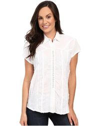 Scully - Honey Creek Lace Cap Sleeve Top W/ Flirty Snap Front - Lyst
