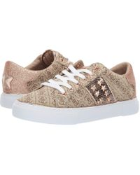 Guess - Gamer (white/pale Silver/silver Multi Leather) Women's Lace Up Casual Shoes - Lyst