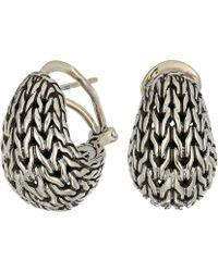 John Hardy - Classic Chain Graduated Buddha Belly Earrings (silver) Earring - Lyst