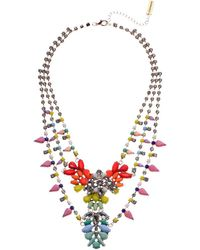 Steve Madden - Multi-layer Floral Bib Necklace (gold/silver/multi) Necklace - Lyst
