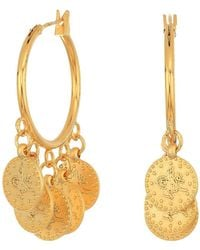 Shashi - Coin Hoop Earrings - Lyst