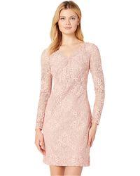 Lauren by Ralph Lauren - 155h Aura Floral Lace Lontie Long Sleeve Day Dress (peche Blossom 2) Women's Dress - Lyst