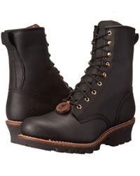 Chippewa - 8 Steel Toe Logger (black) Men's Work Boots - Lyst