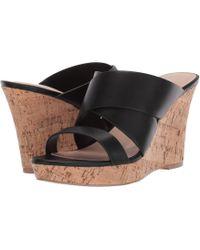 6ea7daa83c5 Charles David - Leslie Wedge Sandal (black) Women s Wedge Shoes - Lyst