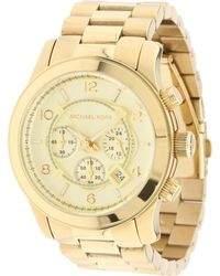 97f70c89254b Lyst - Michael Kors Mk5055 Runway Gold-plated Stainless Steel Watch ...
