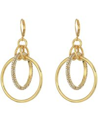 Vince Camuto - Statement Interlocking Ring Earrings (silver) Earring - Lyst