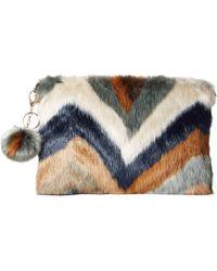 San Diego Hat Company - Bsb3552 Chevron Faux Fur Clutch (multi) Clutch Handbags - Lyst