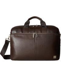 Knomo - Brompton Classic Amesbury Double Zip Briefcase - Lyst
