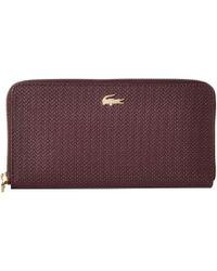 4911c20103c96 Lacoste - Chantaco Large Zip Wallet (wine Tasting) Wallet Handbags - Lyst