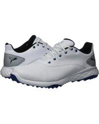 Lyst - PUMA Grip Fusion (puma White puma Black blue) Men s Golf ... 1a1ae14c5